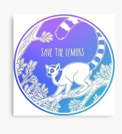 Save the Lemurs! Canvas Print
