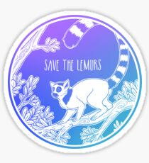 Save the Lemurs! Sticker