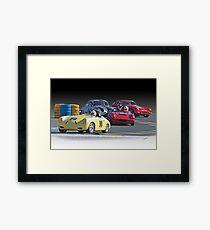 Vintage Racecars 'Lap Leader' Framed Print