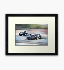 Vintage Formula One Racecars 'F1 Competition' Framed Print