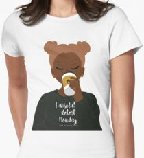 I Absolutely Detest Mondays Womens Fitted T-Shirt