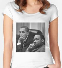 ObaMartin Women's Fitted Scoop T-Shirt