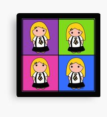 Tie Girl Arya Squared Canvas Print