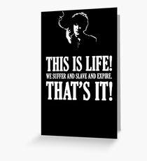 Bernard Black - Black Books T Shirt Greeting Card