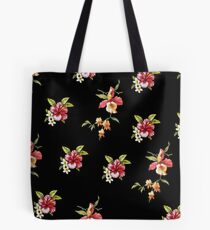 Hipster Tropical flower floral print Tote Bag