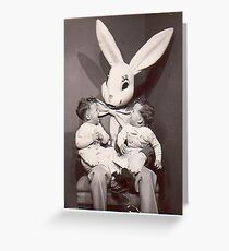 Creepy Easter Bunny Greeting Card