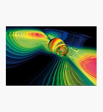 Gravitational Waves And Colliding Black Holes Photographic Print
