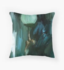 Art Deco Lamp Lady Throw Pillow
