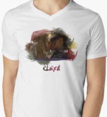 Clexa - The 100 - Brush Kiss Men's V-Neck T-Shirt