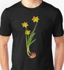Daffodil on black Unisex T-Shirt