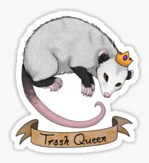 Trash Queen Opossum Possum Sticker