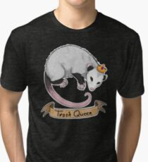 Trash Queen Opossum Possum Tri-blend T-Shirt