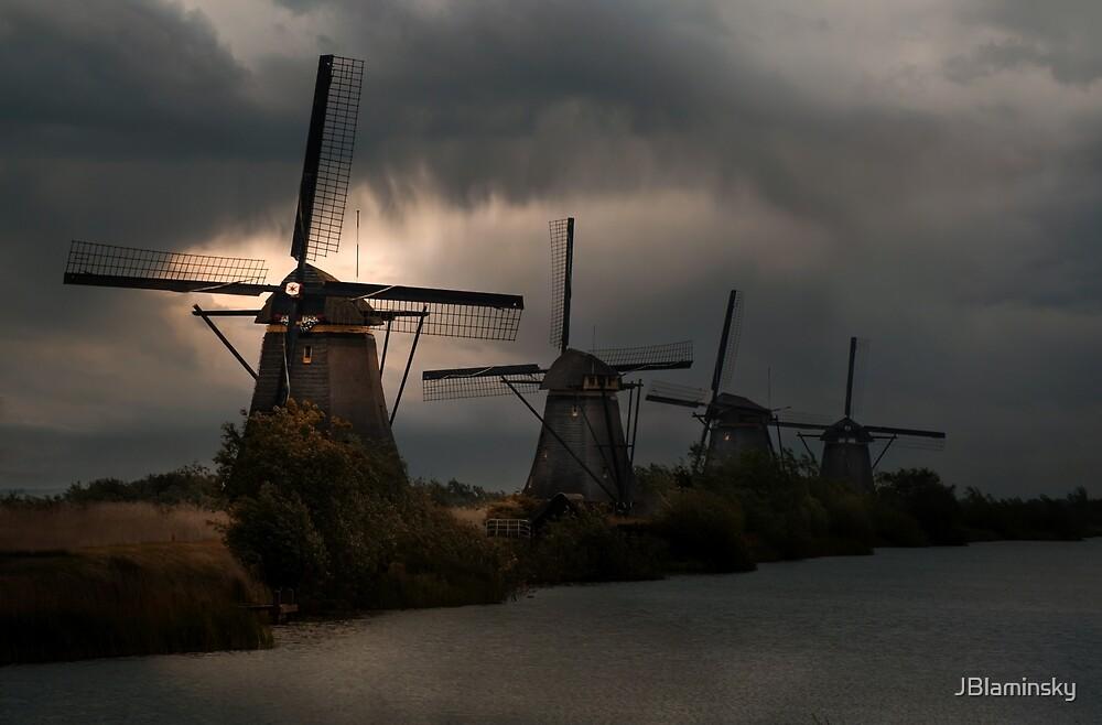Dutch Windmills in Kinderdjik by JBlaminsky