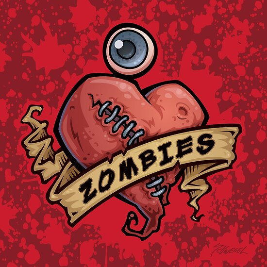 I Love Zombies... with Blood by fizzgig