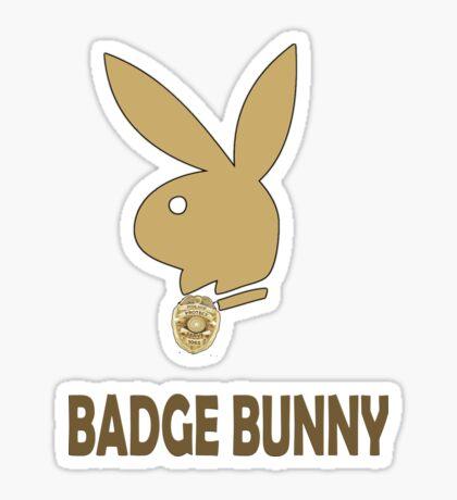 Badge Bunny Sticker