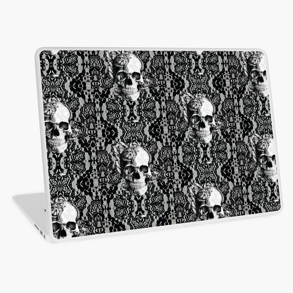 Gothic Lace skull Laptop Skin