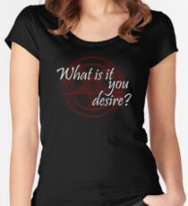 Lucifer - What is it you desire? Women's Fitted Scoop T-Shirt