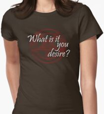 Lucifer - What is it you desire? Women's Fitted T-Shirt