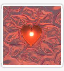 Heart on a Blanket Sticker