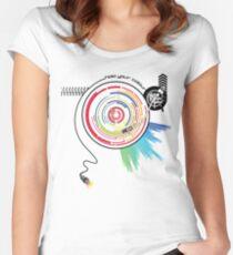 Pendulum Vinyl Music Mashup Women's Fitted Scoop T-Shirt