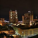 San Antonio TX Downtown Landscape by turnerstokens