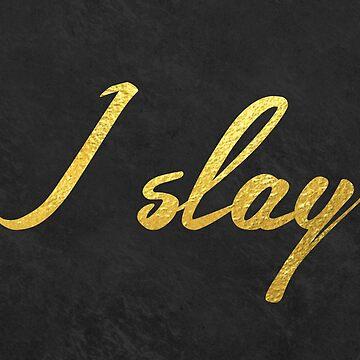 Ich töte (Gold-Typografie) von MartaOlgaKlara