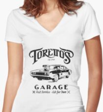 Torettos Garge Dom Women's Fitted V-Neck T-Shirt