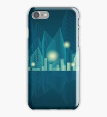 City Landscape at night iPhone Case/Skin