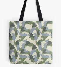 Grün-Grau-Braun-Tarnung Tote Bag