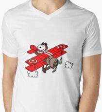 Snoopy Flying  Men's V-Neck T-Shirt