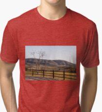 Fence Tree Mountain Tri-blend T-Shirt