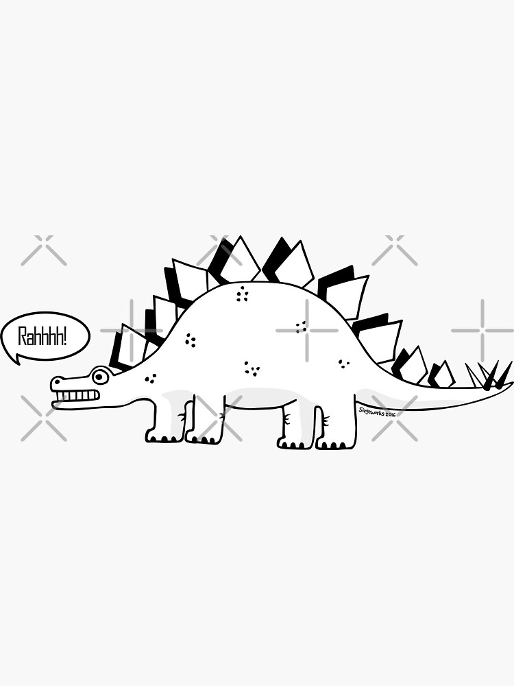 Cartoon Stegosaurus by siege103