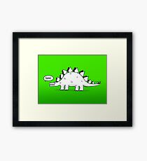 Cartoon Stegosaurus Framed Print