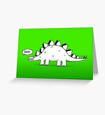 Cartoon Stegosaurus Greeting Card