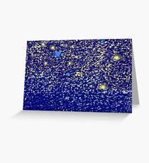 A billion light years away - Star scribble Greeting Card