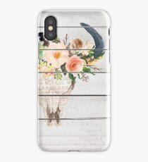 Floral Boho Skull iPhone Case