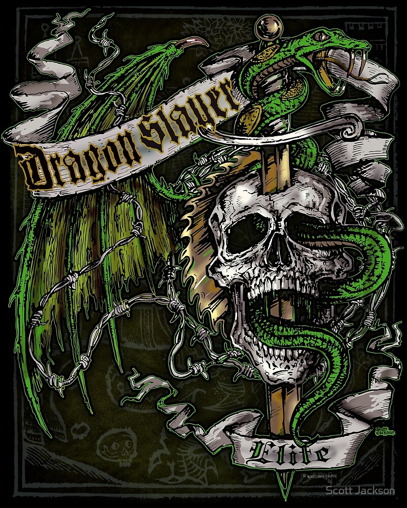 Dragon Slayer Elite Crest by Scott Jackson