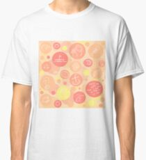 Bubbles (Peach) Classic T-Shirt