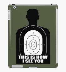 Target Silhouette graphic iPad Case/Skin