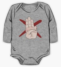Three Finger Salute One Piece - Long Sleeve