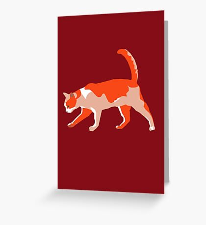 Slinky Ginger Greeting Card