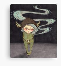 Sad Little Gnome Girl Canvas Print