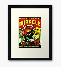 RETRO Golden Age Comic Book Cover Miracle Comics Framed Print