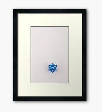 Blue Marbled D20 Framed Print