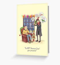 Sherlock's Santa Scan Greeting Card