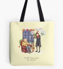 Sherlock's Santa Scan Tote Bag
