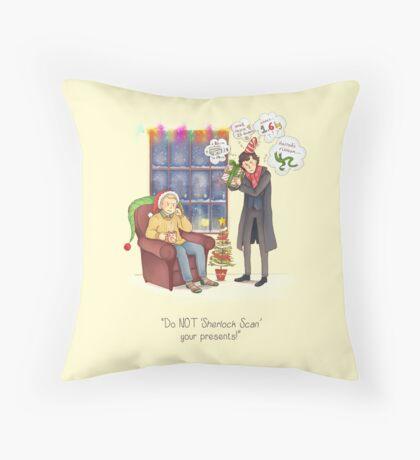 Sherlock's Santa Scan Throw Pillow