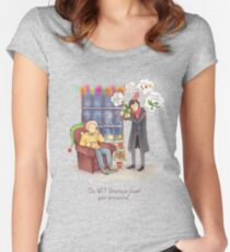 Sherlock's Santa Scan Women's Fitted Scoop T-Shirt