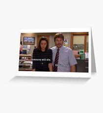 April and Andy Greeting Card