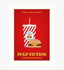 Pulp Fiction film poster Art Print